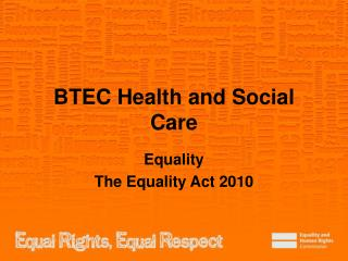 BTEC Health and Social Care