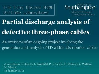 Partial discharge analysis of defective three-phase cables