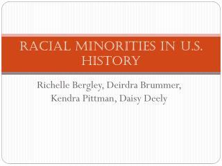 Racial Minorities in U.S. History