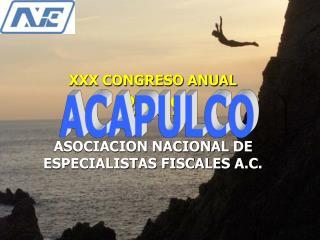 XXX CONGRESO ANUAL 2009 ASOCIACION NACIONAL DE ESPECIALISTAS FISCALES A.C.