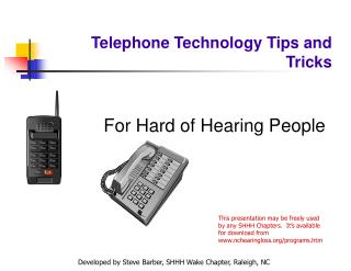 Telephone Technology Tips and Tricks