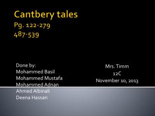 Cantbery tales Pg. 122-279 487-539