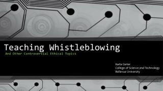 Teaching Whistleblowing