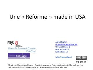 Une «Réforme» made in USA