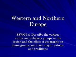 Western and Northern Europe