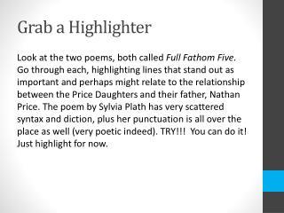 Grab a Highlighter