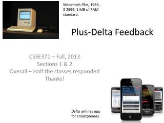 Plus-Delta Feedback