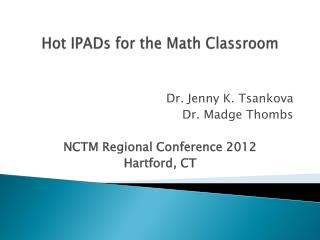 Hot  IPADs for the Math Classroom
