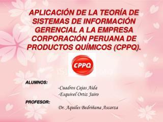 APLICACI N DE LA TEOR A DE SISTEMAS DE INFORMACI N GERENCIAL A LA EMPRESA CORPORACI N PERUANA DE PRODUCTOS QU MICOS CPPQ