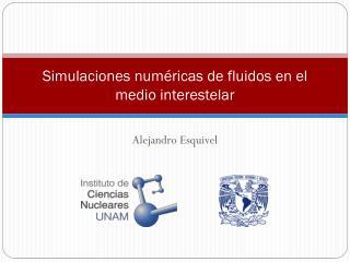 Simulaciones numéricas de fluidos en el medio interestelar