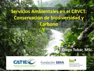Servicios Ambientales en el CBVCT:  Conservación de biodiversidad y Carbono