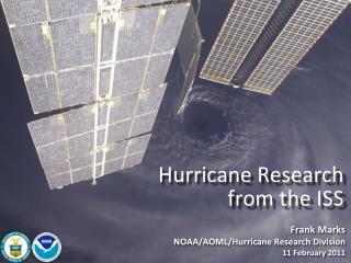 Hurricane Research from the ISS