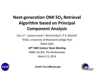 Next-generation OMI SO 2 Retrieval Algorithm based on Principal Component  Analysis