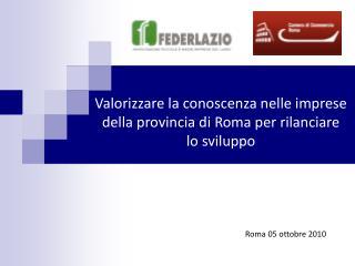 Roma 05 ottobre 2010