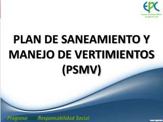 PLAN DE SANEAMIENTO Y MANEJO DE VERTIMIENTOS (PSMV)