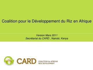 Coalition pour le Développement du Riz en Afrique