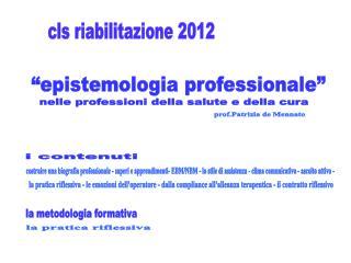 """""""epistemologia professionale"""""""
