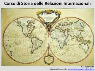 Corso di Storia delle Relazioni Internazionali