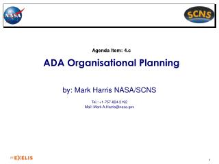 Agenda Item: 4.c ADA Organisational Planning
