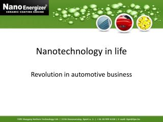 Nanotechnology in life