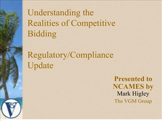 Understanding the Realities of Competitive Bidding  Regulatory
