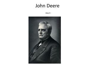 John Deere Pete  P.