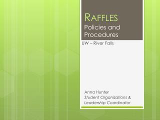 Raffles Policies and Procedures