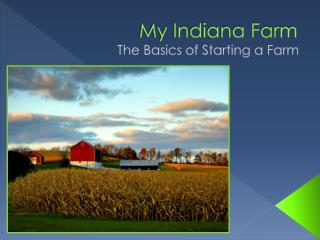 My Indiana Farm