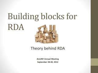 Building blocks for RDA