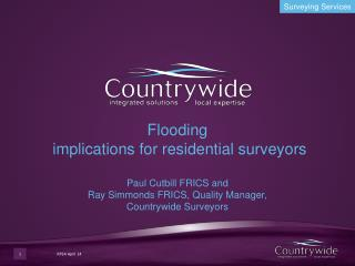 Flooding and flood risk