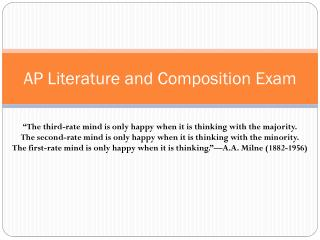 AP Literature and Composition Exam