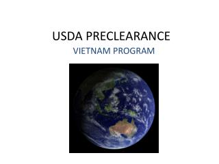 USDA PRECLEARANCE