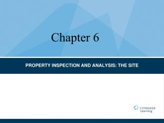 PROPERTY INSPECTION AND ANALYSIS: THE SITE