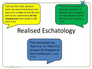 Realised  Eschatology