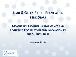 Lean  & Green Rating  Framework  (2nd Star)