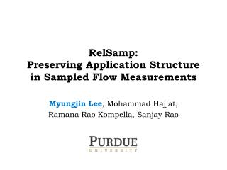 RelSamp : Preserving Application Structure in Sampled Flow Measurements