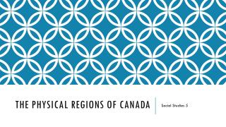 The physical Regions of Canada