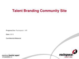 Talent Branding Community Site