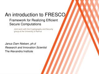 An introduction to FRESCO