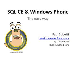 SQL CE & Windows Phone