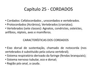 Capítulo 25 - CORDADOS