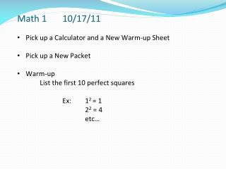 Math 1 10 /17/1 1