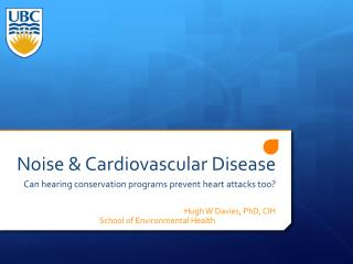 Noise & Cardiovascular Disease