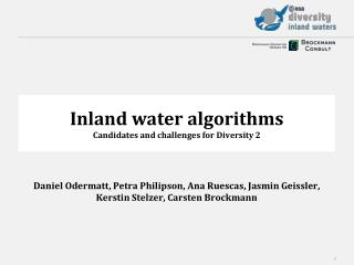 Inland water algorithms Candidates and challenges for Diversity 2