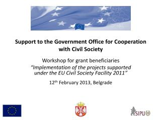 Support to the Government Office for Cooperation with Civil Society