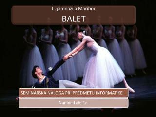 Odrska izvedba umetni�kih plesov z glasbeno spremljavo