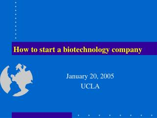 How to start a biotechnology company