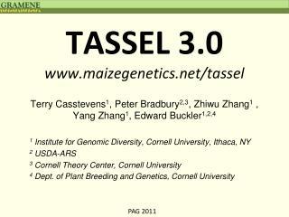 TASSEL 3.0 www.maizegenetics.net/tassel