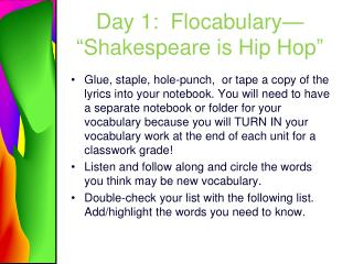 "Day 1:  Flocabulary— ""Shakespeare is Hip Hop"""