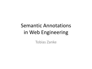 Semantic  Annotations  in  Web Engineering